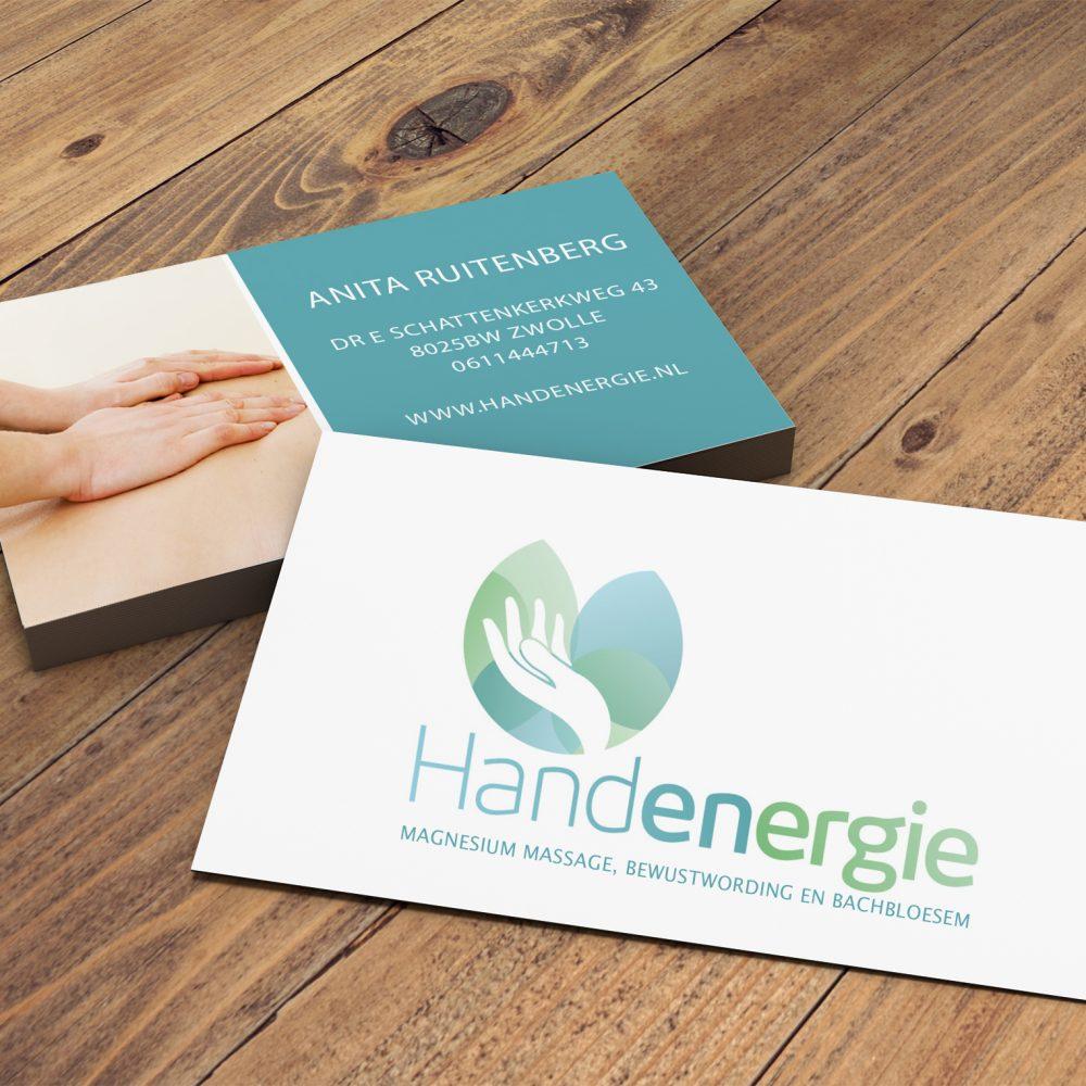 hand energie visitekaart
